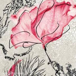 Carte d'art Valie Le Boeuf Rosalie 14x14cm