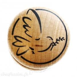 Tampon bois colombe rameau de buis
