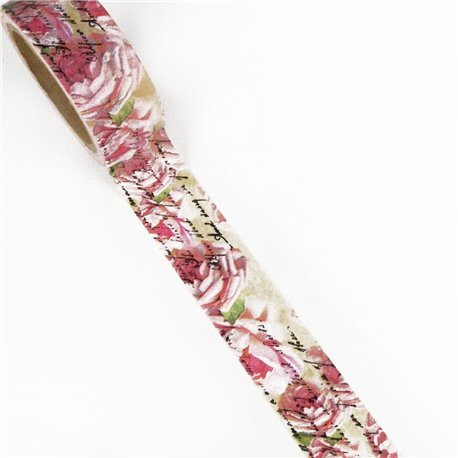 Masking tape shabby chic roses anciennes ruban papier adhésif washi