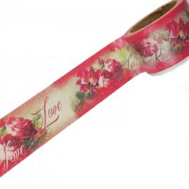 Masking tape vintage roses anciennes rouges ruban papier adhésif washi