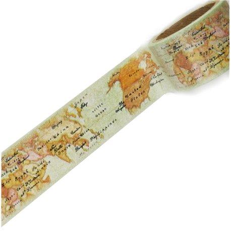 Masking tape voyages carte géographique ruban papier adhésif washi