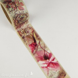 Masking tape shabby chic roses anciennes tampons ruban papier adhésif
