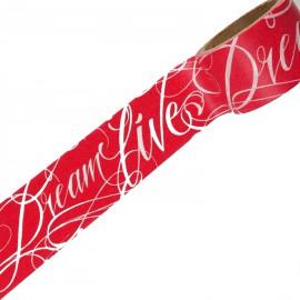 Masking tape dreamlive blanc fond rouge ruban papier adhésif washi