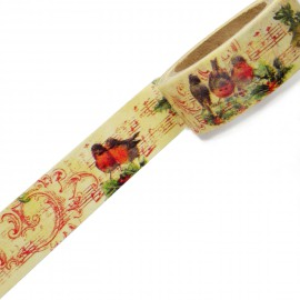 Masking tape musique roses rouges ruban papier adhésif washi