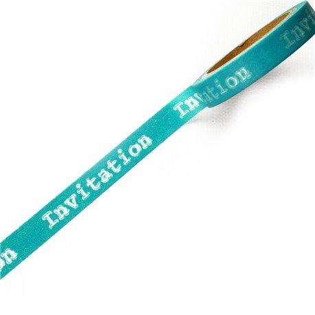 Masking tape invitation bleu ruban papier adhésif washi