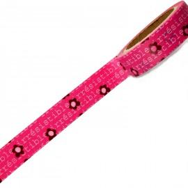 Masking tape rose irrésistible ruban papier adhésif washi
