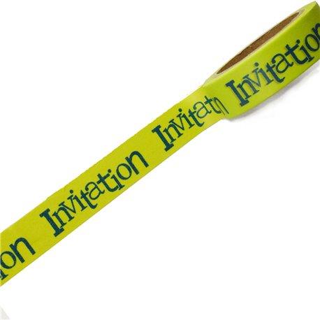 Masking tape invitation vert anis ruban papier adhésif washi