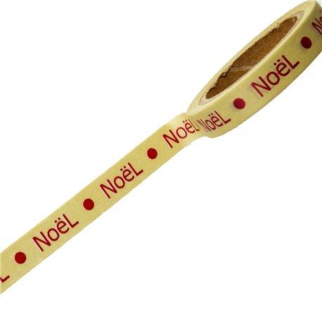 Masking tape Noël taupe bordeaux ruban papier adhésif washi