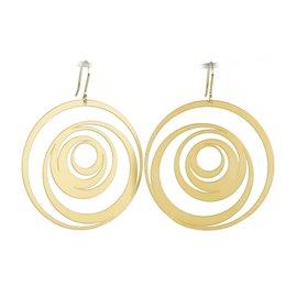 Boucles d'oreilles percées métal RAS doré spirales