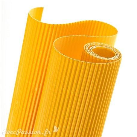 Papier carton ondulé couleur jaune