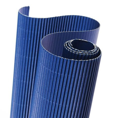 Papier carton ondulé couleur bleu
