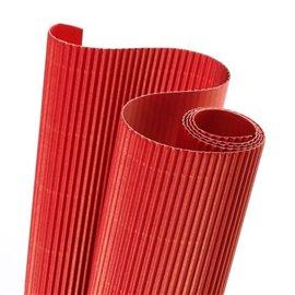 Papier carton ondulé couleur rouge