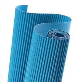 Papier carton ondulé couleur bleu roi