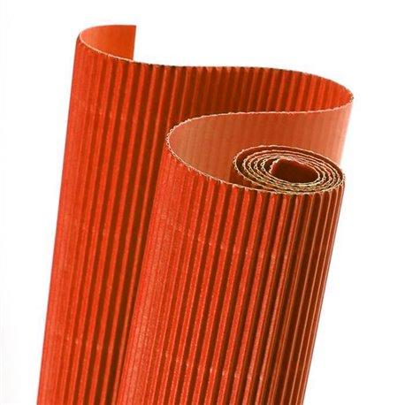Papier carton ondulé couleur orange