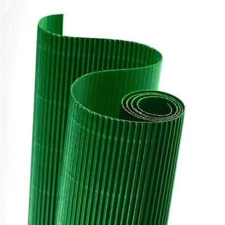 Papier carton ondulé couleur vert émeraude
