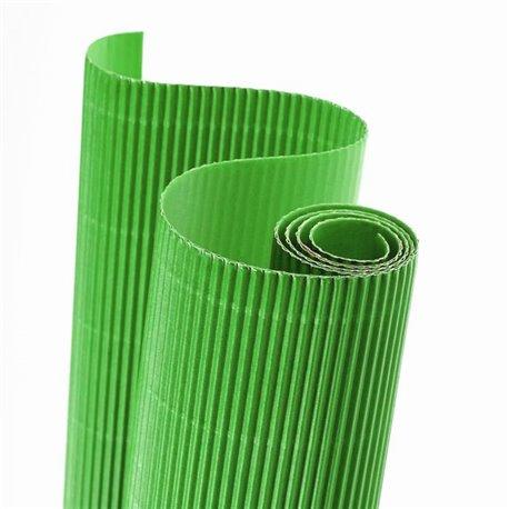 Papier carton ondulé couleur vert printemps
