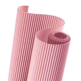 Papier carton ondulé couleur rose layette