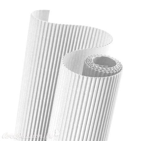 Papier carton ondulé couleur blanc