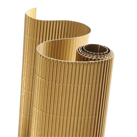 Papier carton ondulé couleur or