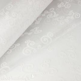 Tissu non tissé Vlies Creapop floqué blanc -