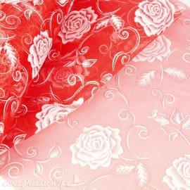 Tissu non tissé Vlies Creapop rose magique rouge -