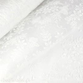 Tissu non tissé Vlies Creapop papillon blanc -