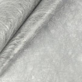 Tissu non tissé Vlies Creapop métallique argent -