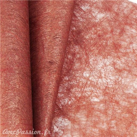 Tissu non tissé Vlies Creapop métallique cuivre -