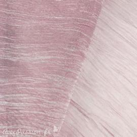 Tissu lilas froissé mineral 38cmx2.5m