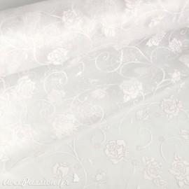 Tissu non tissé Vlies Creapop rose blanc avec mica -