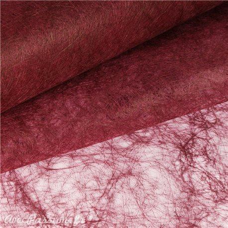 Tissu non tissé soie fibre classique bordeaux