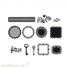 Découpes en papier noir 12 motifs