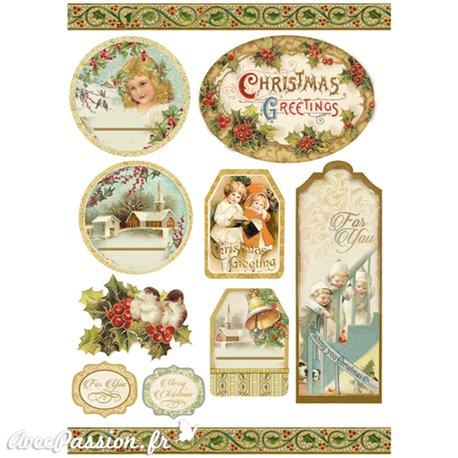 Etiquettes décoratives noël adhésives