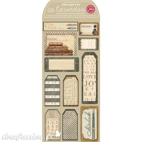 Etiquettes décoratives livres anciens