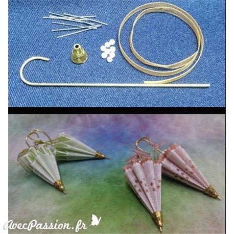 Matériel pour ombrelle du livre Delightful Gifts Amanda Yeh