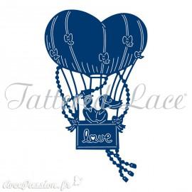 Dies découpe gaufrage matrice Tattered Lace mariés en montgolfière