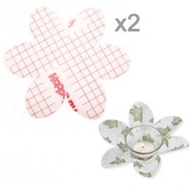 Feuilles créapop folie Hobbyfun lampe photophore fleur 2