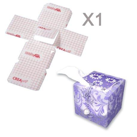 Feuilles créapop folie Hobbyfun boite à mouchoir cube