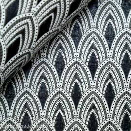 Papier fantaisie joséphine noir gris et blanc