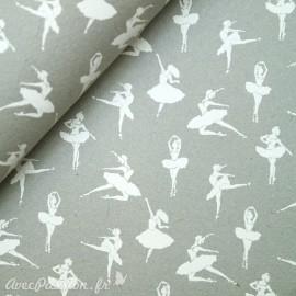 Papier à motifs danse gris et blanc