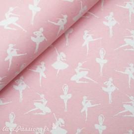 Papier à motifs danse rose et blanc