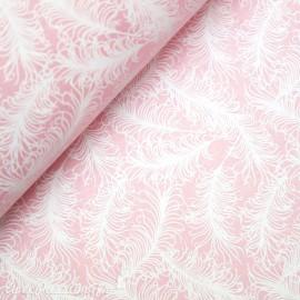Papier à motifs sosoft plumes rose et blanc