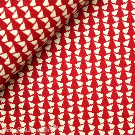 Papier à motifs flamenco rouge et lin