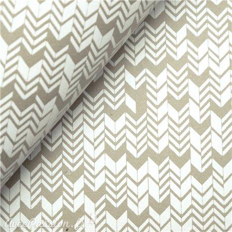 Papier à motifs inca lin et blanc