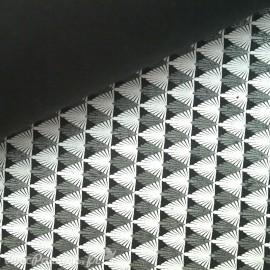 Papier fantaisie gatsby noir blanc et gris