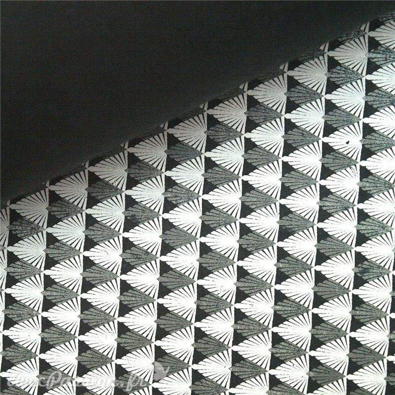 Papier encadrement fantaisie gatsby noir blanc gris for Papier peint geometrique triangles noir et blanc gris