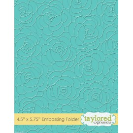Classeur gaufrage embossage motifs roses taylored expressions 1p