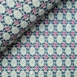 Papier tassotti motifs petites fleurs bleu et violet