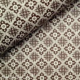 Papier tassotti motifs mosaïque marron