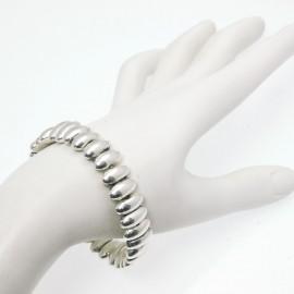Bracelet fantaisie Ubu argent élastique olives